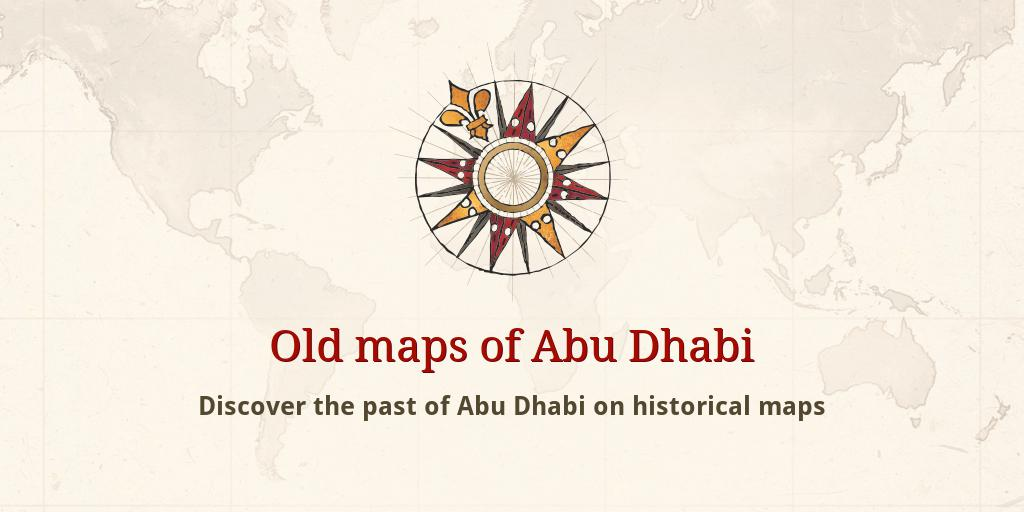 Old maps of Abu Dhabi