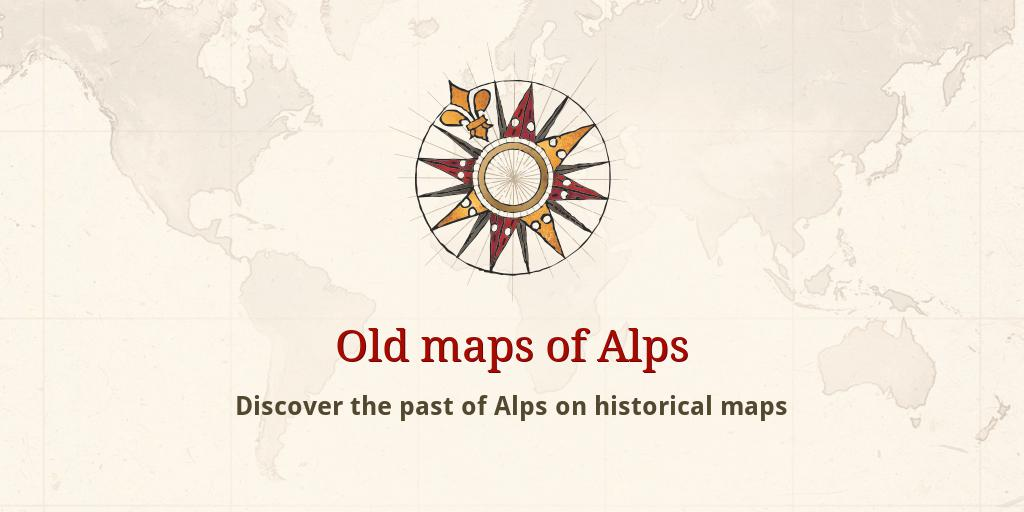 Old maps of Alps