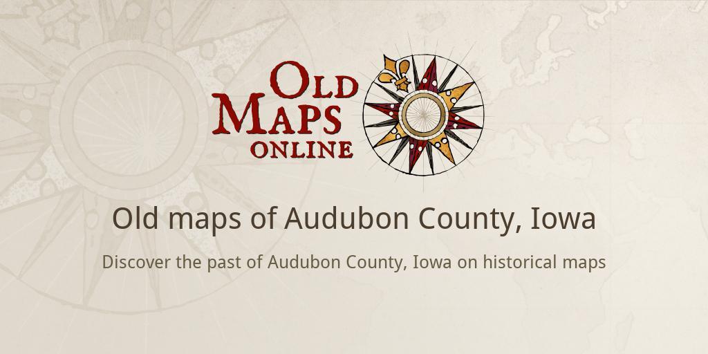 Audubon Iowa Map.Old Maps Of Audubon County