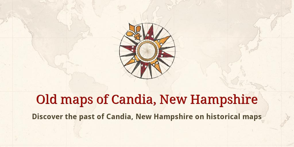 Old maps of Candia Candia Nh Map on