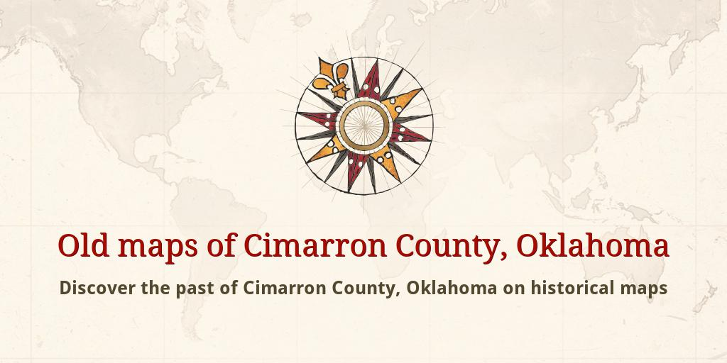 Old Maps Of Cimarron County