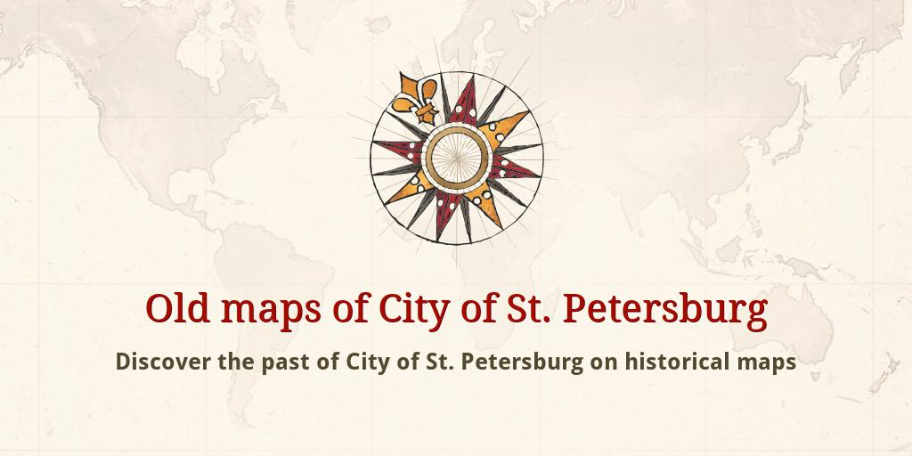 Map Of St Petersburg Florida.Old Maps Of City Of St Petersburg