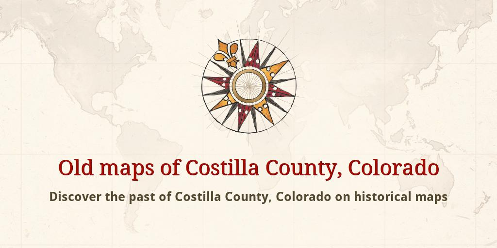 Old Maps Of Costilla County