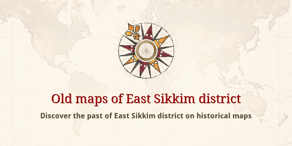 Carte Inde Sikkim.Old Maps Of East Sikkim District