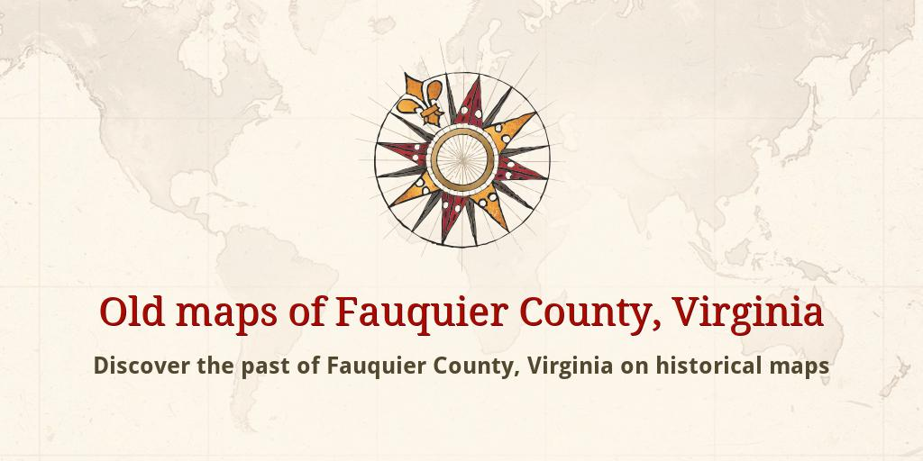 Old maps of Fauquier County Map Of Fauquier County Va on