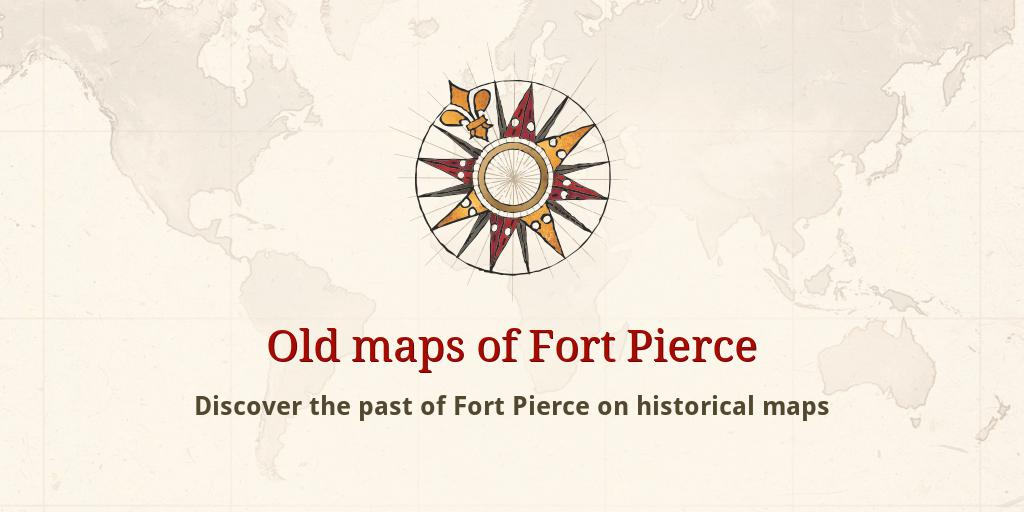Map Of Fort Pierce Florida.Old Maps Of Fort Pierce