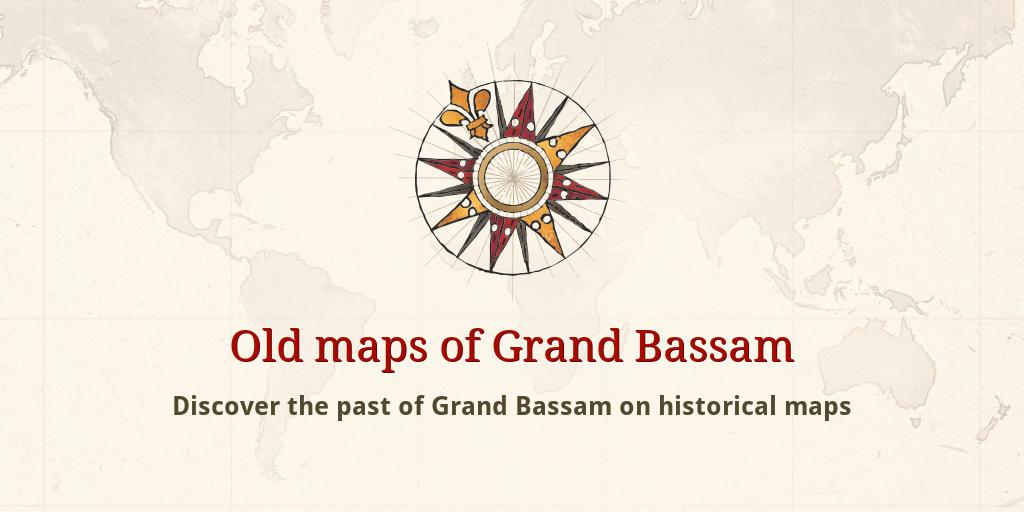 Old maps of Grand Bassam