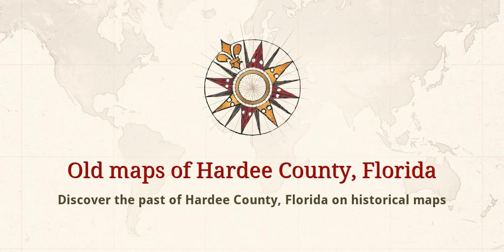 Old Maps Of Hardee County