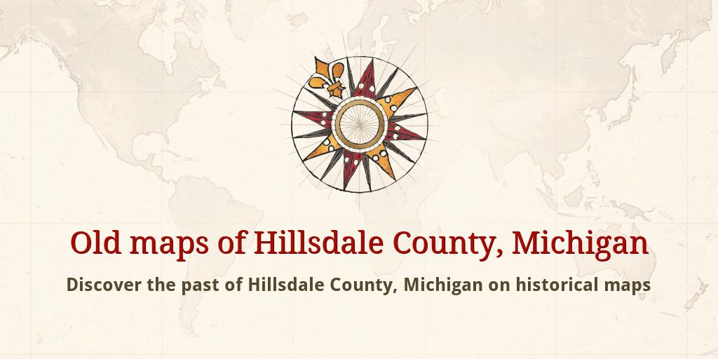 Hillsdale County Michigan Map.Old Maps Of Hillsdale County