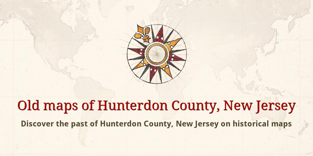 Old maps of Hunterdon County Map Of Hunterdon County on