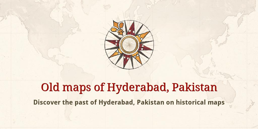 Old maps of Hyderabad