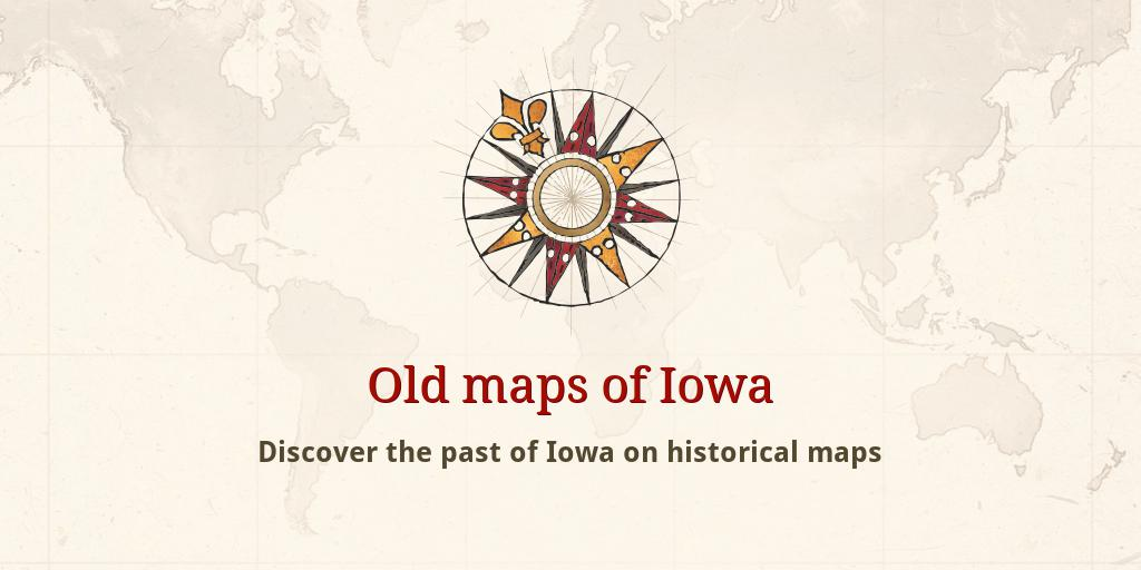 Old Iowa Map.Old Maps Of Iowa