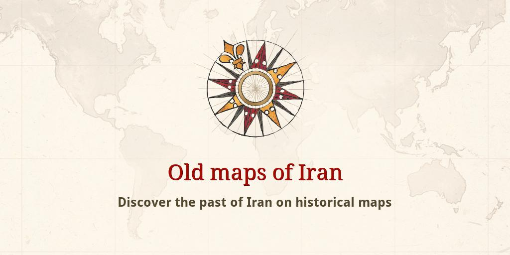 Old maps of Iran