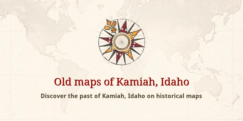 Old Maps Of Kamiah