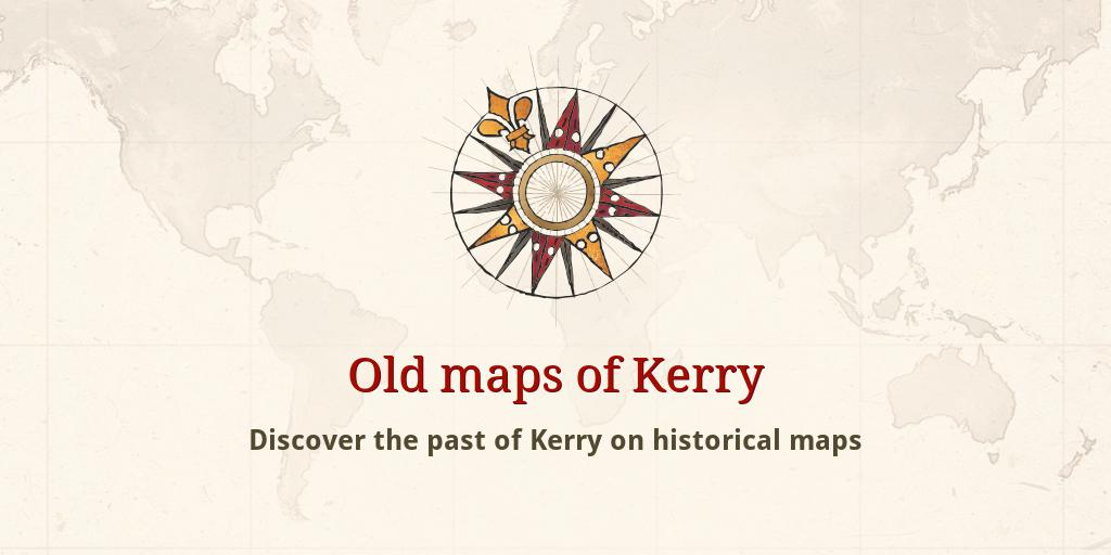 Oldest Map Of Ireland.Old Maps Of Kerry