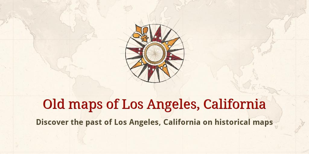 Old maps of Los Angeles