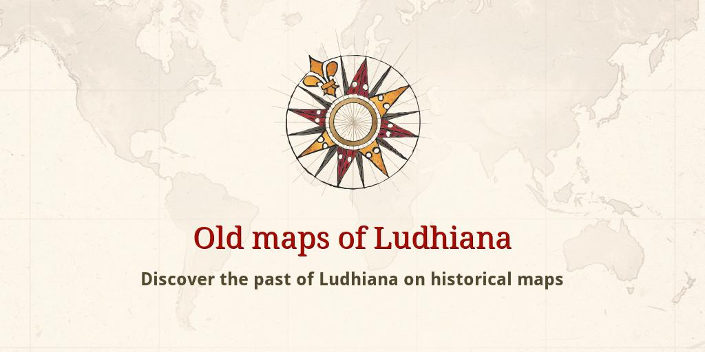 Old maps of Ludhiana