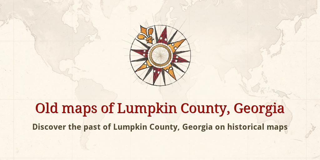 Old maps of Lumpkin County