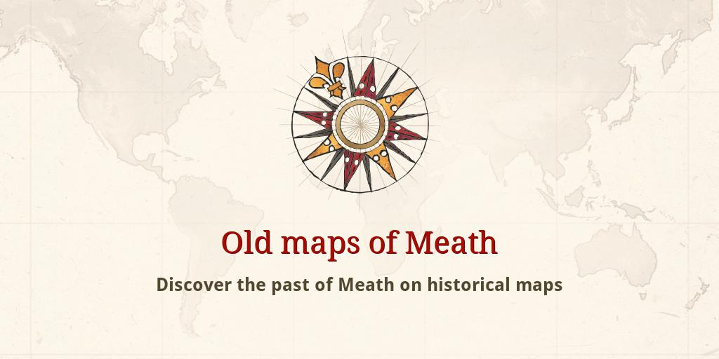 Map Of Co Meath Ireland.Old Maps Of Meath