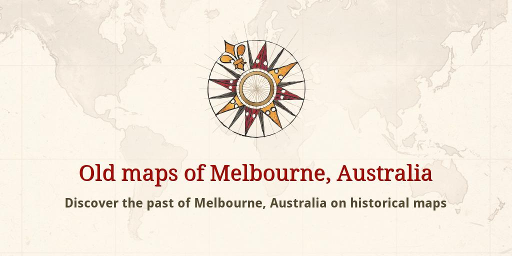 Old Maps Of Melbourne - Vintage maps melbourne