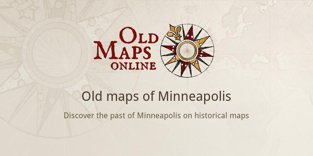Old maps of Minneapolis