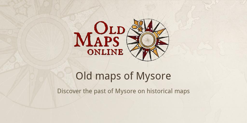 Carte De Linde Mysore.Old Maps Of Mysore