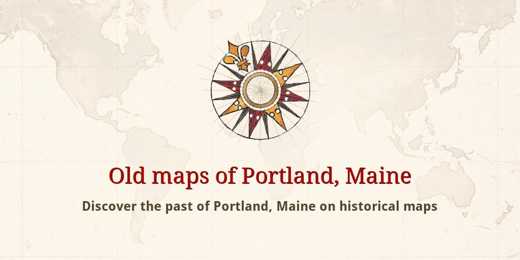 Old maps of Portland
