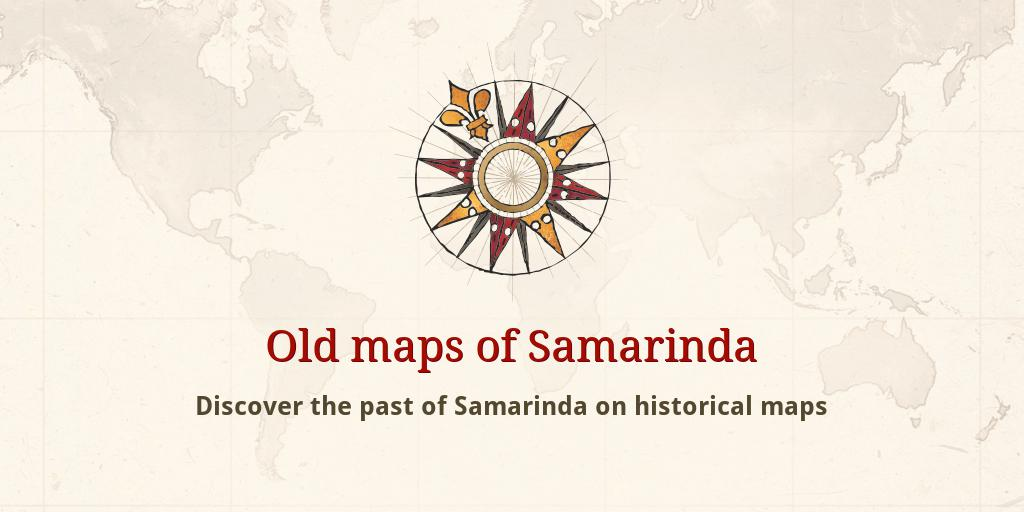 Old maps of Samarinda