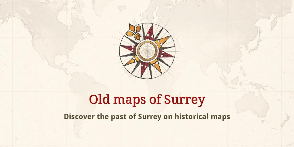 Surrey County Map Centre Stores Walworth History Guide