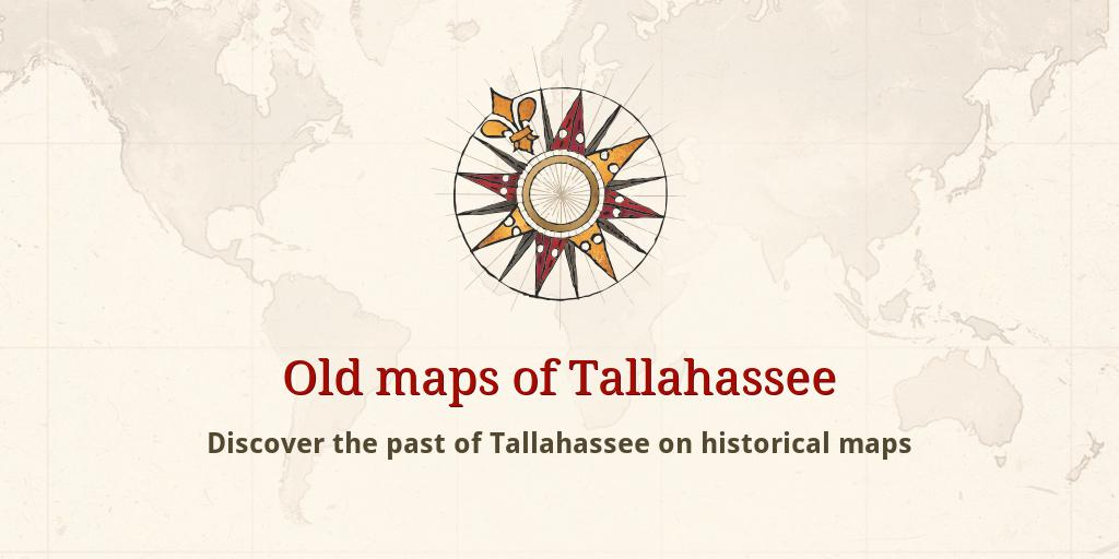 Old maps of Tallahassee