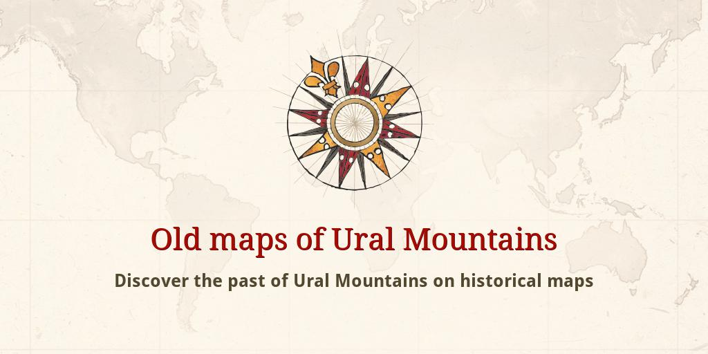 Old maps of Ural Mountains