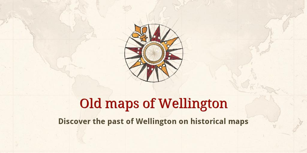 Map Wellington New Zealand.Old Maps Of Wellington